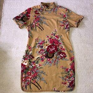 linen Chinese style dress size large